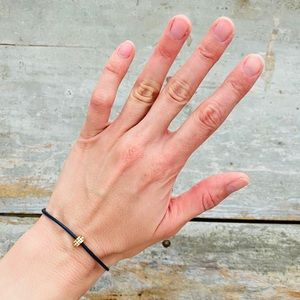 ♥️ Coach ♥️ Navy Blue Leather Bracelet